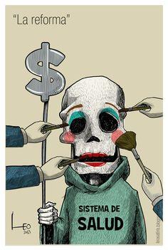 """""""La reforma"""". Reforma a la salud caricatura Leonardo Parra"""