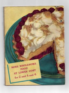 Vintage 1955 CAKE and COOKY Recipe Cookbook~~