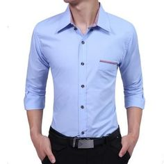 Available for a limited time only, get this Solid Color Mens ... only at #TheDealFinder http://thedealfinderstore.com/products/solid-color-mens-slim-fit-dress-shirts?utm_campaign=social_autopilot&utm_source=pin&utm_medium=pin