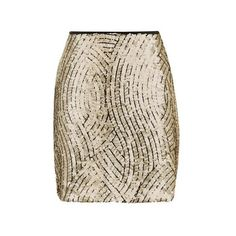 TopShop Psych Swirl Sequin Mini Skirt ($63) ❤ liked on Polyvore featuring skirts, mini skirts, bottoms, gold, short sequin skirt, short skirts, brown skirt, topshop skirts and party skirts
