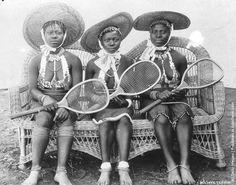 Zulu tennis students, 1910. Tanzania.