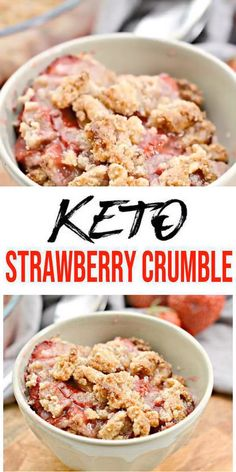 Here is a quick & easy homemade strawberry crumble recipe. If u r looking for delicious, tasty strawberry crumble for a Strawberry Crumble Recipe, Strawberry Snacks, Strawberry Breakfast, Desserts Keto, Easy Gluten Free Desserts, Easy Cake Recipes, Keto Recipes, Dessert Recipes, Breakfast Dessert