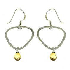 Bijouterie indienne - Gemmes Citrines attachées sur anneau en Argent - Bijoux pour oreilles percées - Boucles d'oreilles jaunes pour les femmes - Cadeau de noël ShalinIndia http://www.amazon.fr/dp/B005MWO0TS/ref=cm_sw_r_pi_dp_oOkZtb135MM5SVFY