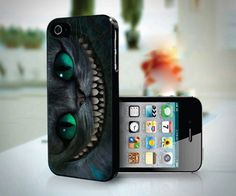 Disney Alice In Wonderland Cheshire Cat design for iPhone 4 or 4s case