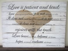 1 Corinthians 13: 4-7 Love Is Patient and Kind Bible by MsDsSigns