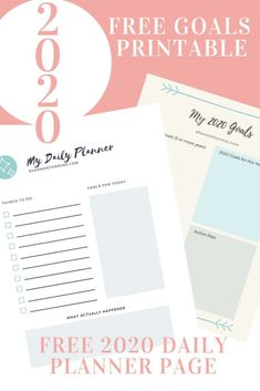 How to Achieve Your New Year's Goals - New Years Resolutions 2020 - Free Printable #goals #newyearsgoals #newyearsresolutions