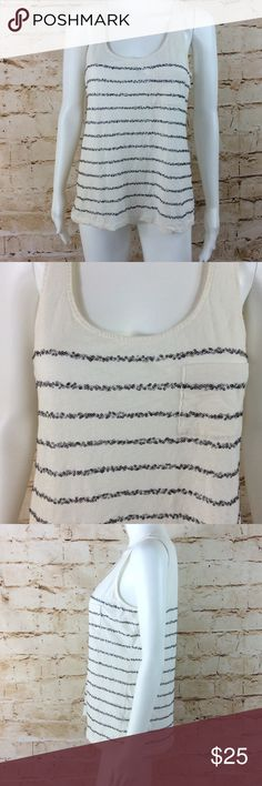 """J Crew tank top J Crew sparkle sequence striped tank top. Excellent condition no flaws. Very comfy. 18"""" from armpit to armpit and 25"""" long from shoulder to hem J. Crew Tops"""
