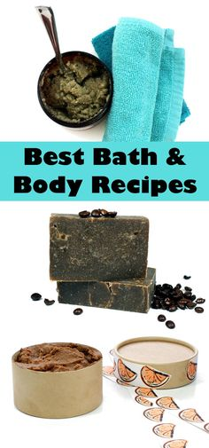 15 of the best homemade bath and body recipes for the past year! Bath and body recipes for making natural healing balms, homemade soaps, scrubs and more!