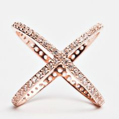Criss Cross Ring - Rose Gold