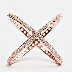 Criss Cross Ring - Rose Gold