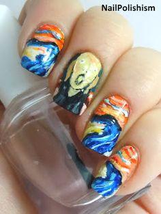 Nail Polishism Art Love Scream Bling Nails Fancy