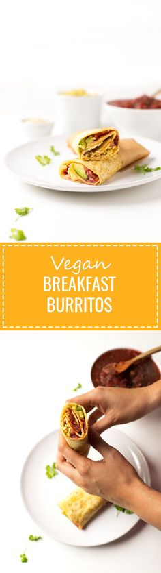 (Vegan and GF) Vegan Breakfast Burritos - If you want something tasty for breakfast, these vegan burritos are perfect for you! This recipe is also great to use up leftover ingredients.