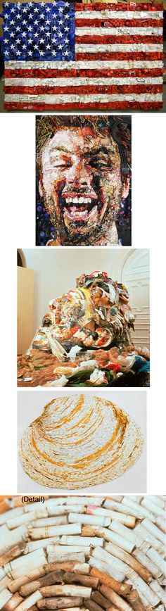 Re-purposed junk art...very cool!