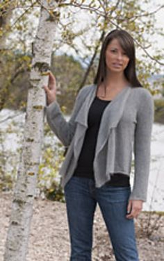 """Cascade Kid Seta Cardigan"" ... laceweight yarn; pattern doesn't go up to my size. :("