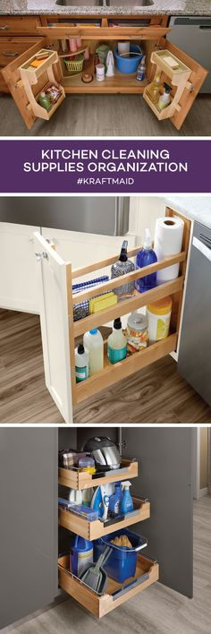 Get Easy Access To The Cleaning Supplies You Use Most In The Kitchenu2014and  Additional