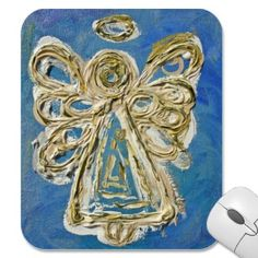 Blue Guardian Angel Mousepads mousepad