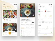 Recipe App by Avinash Tripathi on Dribbble Web Design, App Ui Design, Food Design, Layout Design, Website Design Inspiration, Ui Inspiration, Design Thinking, Ui Design Mobile, Cooking App