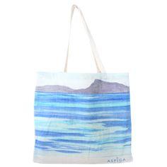 Beach Print Shopper Bag