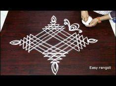 easy beginners kolam designs with dots - simple rangoli designs - chukkala muggulu - rangavalli Simple Rangoli Border Designs, Rangoli Simple, Indian Rangoli Designs, Rangoli Designs Flower, Free Hand Rangoli Design, Small Rangoli Design, Rangoli Patterns, Rangoli Ideas, Rangoli Designs With Dots