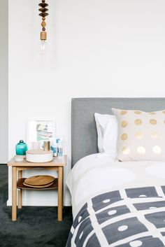 Love love love this master bedroom! Beautiful styling | The Design Files Open House 2103