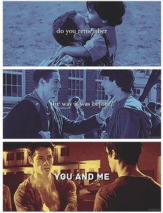 Stiles & Scott/// only true fans know where this quote happened, when, and how it ended❤️
