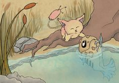 The Skitty and the Feebas by tstroyerfosho
