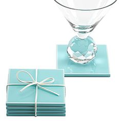 Like this set of coasters for a hostess gift.