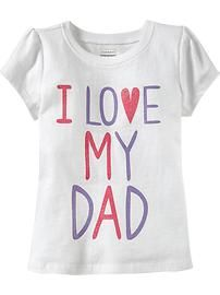 """""""I ♥ My Dad"""" Glitter Tees for Baby"""