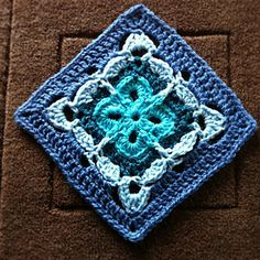 "Day 31: 6"" Block of the Day: Garden Gate 6"" Granny Square by Shelley Husband Free Pattern: http://www.ravelry.com/patterns/library/garden-gate-6-granny-square May 2013 #TheCrochetLounge #6""Square Pick"
