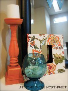 orange and turquoise  #athomeinthenorthwestblog.com