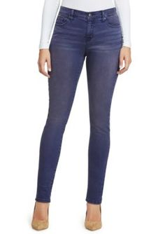 Gloria Vanderbilt Women's Petite Size Slimming Jean - Rich Indigo - 14P