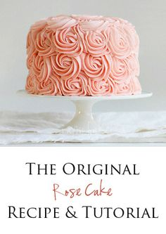 rose cake tutorial @Amanda Snelson Rettke.net  Need this for my bf bday. But red roses instead of peach!  So excited!