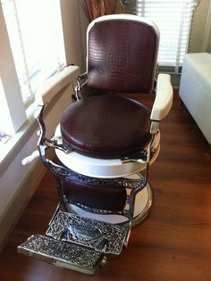 1920s Koken Barber Chair! We've had one version of these in our shop last year!