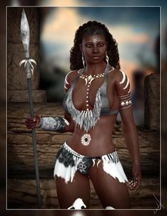 "African Queens and Warrior Women | ... notes ""The African Woman as Heroine~Great Black Women in History"