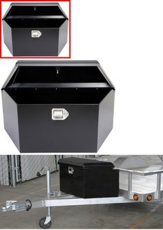 NEW Trailer Tongue Box 2-3//4 Cu Ft Storage Tools Steel Truck Towing Boat Motor