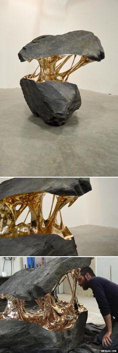 """""""Molten"""" sculpture (Romain Langlois) - 9GAG"""