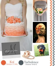 Fall Wedding Colors Inspiration: Coral and Gray. Get inspired on the Wyoming Bride blog