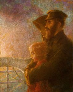 The Russian Emigrants (1900) : Oil : Lucien Levy-Dhurmer