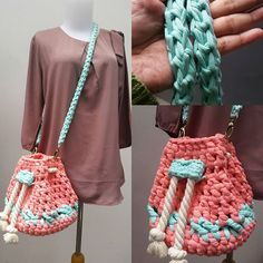 owiw.ailirpa t-shirt yarn crochet bag