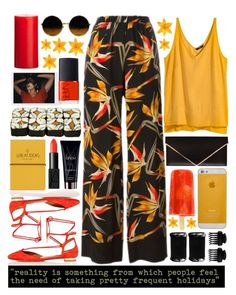 """""""Holidays"""" by valdep ❤ liked on Polyvore featuring Fendi, H&M, Aquazzura, Givenchy, Topshop, Clips, T3, NARS Cosmetics, Yves Saint Laurent and prints"""