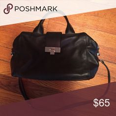 Calvin Klein Purse Black leather purse. In great condition! Used once. Calvin Klein Bags Shoulder Bags