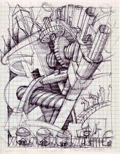 Biagio Forgione, illustrazione, bozzetto preparatorio. #illustration #bologna #book fair #schizzo #sketch