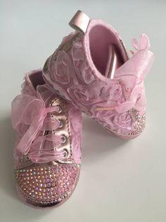 HomeDecor / Topánočky / Capačky - ružové čipkované