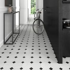 SomerTile 13.125x13.125-inch Comarca Jet Blanco Ceramic Floor and Wall Tile (Case of 9) | Overstock.com Shopping - The Best Deals on Floor Tiles