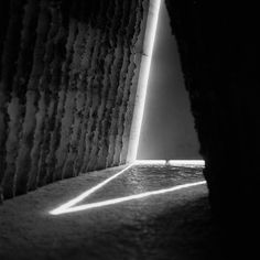 Interior of Bruder Klaus chapel by Peter Zumthor. Surface revealed when wooden poles intentionally burned away to show rammed earth surrounding them. Church Architecture, Light Architecture, Architecture Details, Sustainable Architecture, Tadao Ando, Steven Holl, John Pawson, Carlo Scarpa, Lebbeus Woods