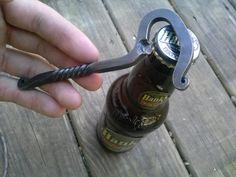 Forged Bottle Opener Hand Forged Bottle by Joshsblacksmithshop