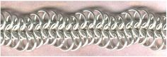 What amazing effects different ring sizes can make in a standard weave, like this waving dragonscale.
