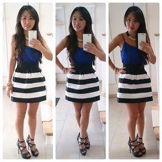 Classic Stripes Skirt   Spring Summer Fashion 2015 www.psiloveyoumoreboutique.com