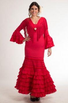 Traje de flamenca de Micaela Villa 2015: Triana Rojo C02