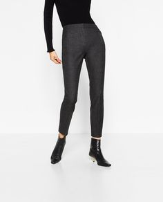 Image 2 of SKINNY FLANNEL TROUSERS from Zara